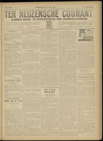 Ter Neuzensche Courant. Algemeen Nieuws- en Advertentieblad voor Zeeuwsch-Vlaanderen / Neuzensche Courant ... (idem) / (Algemeen) nieuws en advertentieblad voor Zeeuwsch-Vlaanderen 1931-05-27