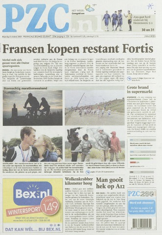 Provinciale Zeeuwse Courant 2008-10-06
