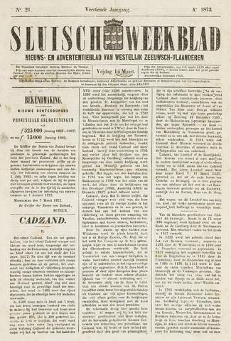 Sluisch Weekblad. Nieuws- en advertentieblad voor Westelijk Zeeuwsch-Vlaanderen 1873-03-14