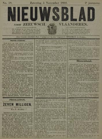 Nieuwsblad voor Zeeuwsch-Vlaanderen 1892-11-05