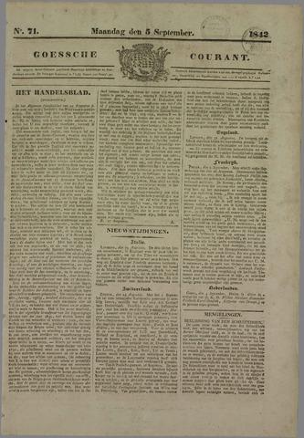 Goessche Courant 1842-09-05