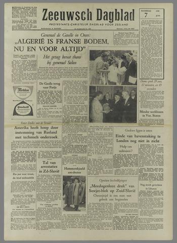 Zeeuwsch Dagblad 1958-06-07