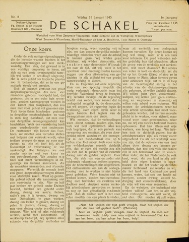 De Schakel 1945-01-19