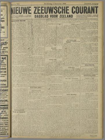 Nieuwe Zeeuwsche Courant 1920-12-02