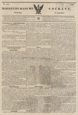 Middelburgsche Courant 1843-09-21
