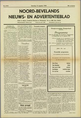 Noord-Bevelands Nieuws- en advertentieblad 1955-08-13