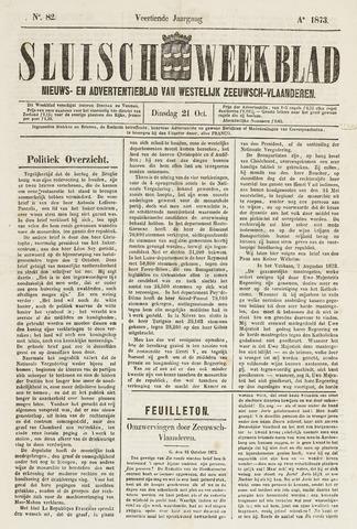 Sluisch Weekblad. Nieuws- en advertentieblad voor Westelijk Zeeuwsch-Vlaanderen 1873-10-21