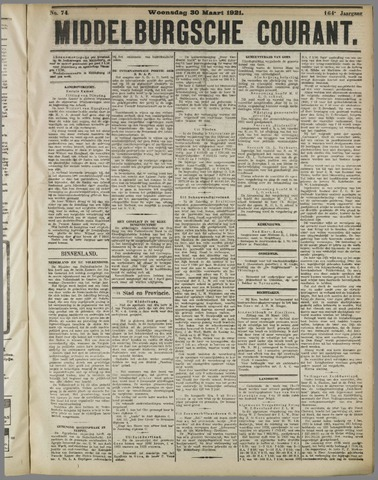 Middelburgsche Courant 1921-03-30
