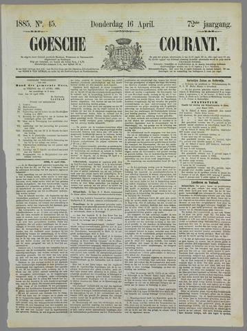 Goessche Courant 1885-04-16