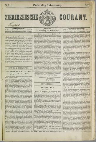 Zierikzeesche Courant 1852