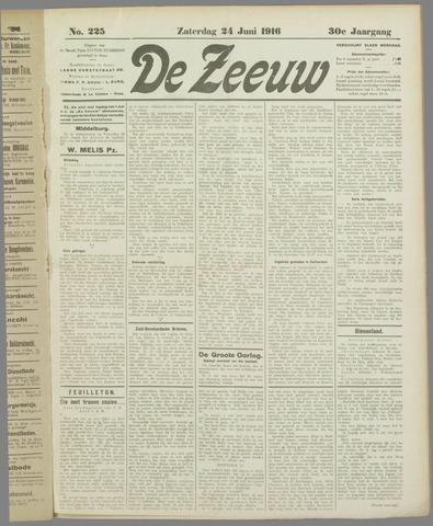 De Zeeuw. Christelijk-historisch nieuwsblad voor Zeeland 1916-06-24