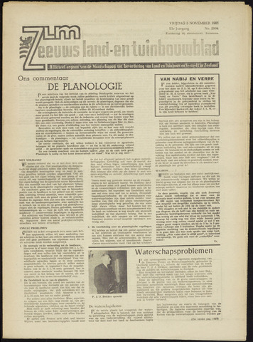 Zeeuwsch landbouwblad ... ZLM land- en tuinbouwblad 1965-11-05