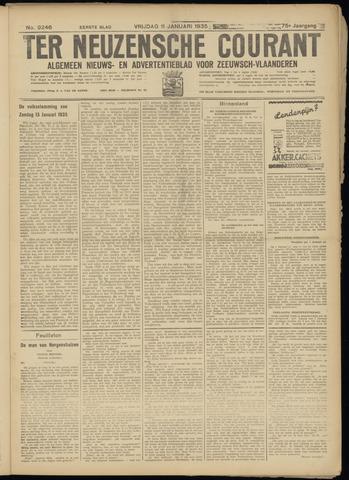 Ter Neuzensche Courant. Algemeen Nieuws- en Advertentieblad voor Zeeuwsch-Vlaanderen / Neuzensche Courant ... (idem) / (Algemeen) nieuws en advertentieblad voor Zeeuwsch-Vlaanderen 1935-01-11