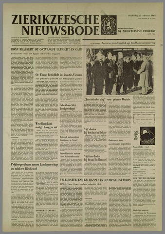 Zierikzeesche Nieuwsbode 1965-02-25