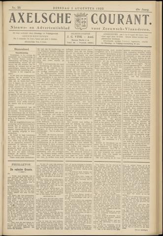 Axelsche Courant 1933-08-01