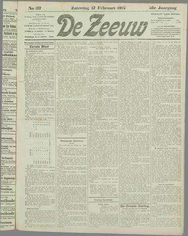 De Zeeuw. Christelijk-historisch nieuwsblad voor Zeeland 1917-02-17