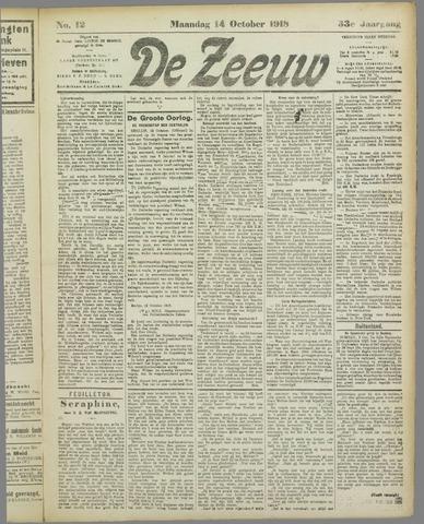 De Zeeuw. Christelijk-historisch nieuwsblad voor Zeeland 1918-10-14