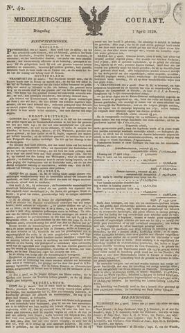 Middelburgsche Courant 1829-04-07