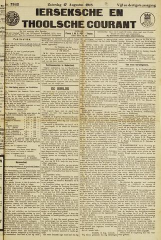 Ierseksche en Thoolsche Courant 1918-08-17