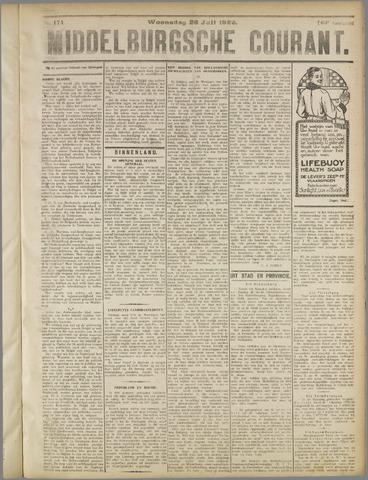 Middelburgsche Courant 1922-07-26