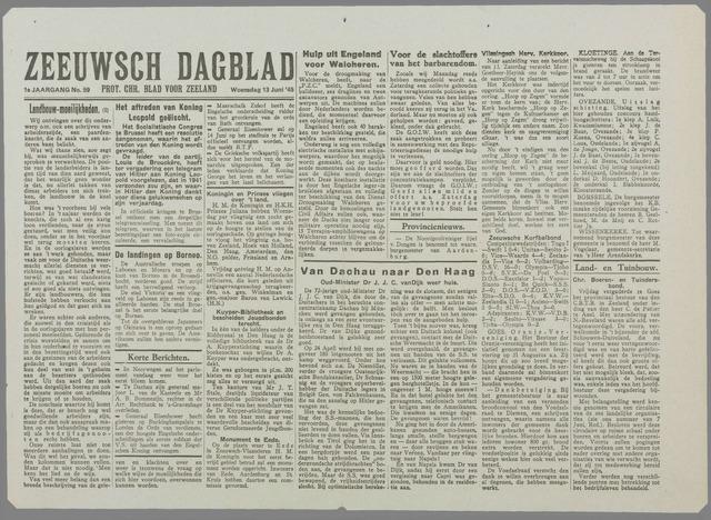 Zeeuwsch Dagblad 1945-06-13