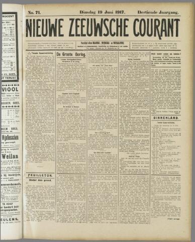 Nieuwe Zeeuwsche Courant 1917-06-19