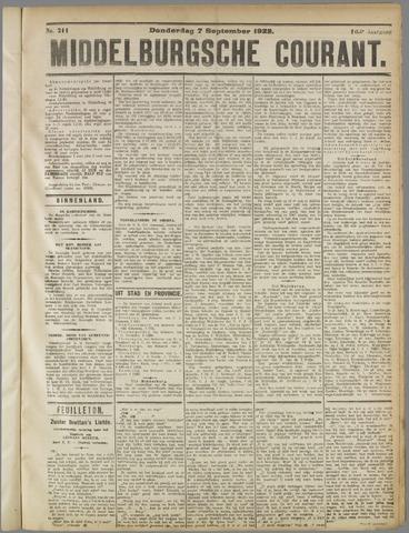 Middelburgsche Courant 1922-09-07