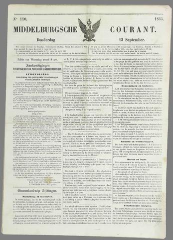 Middelburgsche Courant 1855-09-13