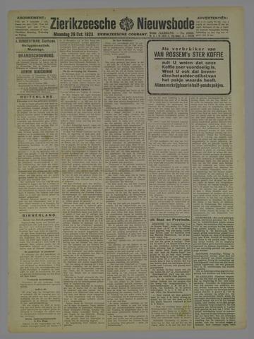 Zierikzeesche Nieuwsbode 1923-10-29