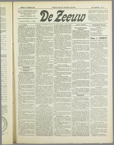 De Zeeuw. Christelijk-historisch nieuwsblad voor Zeeland 1934-02-13