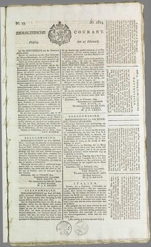 Zierikzeesche Courant 1824-02-27