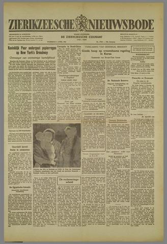 Zierikzeesche Nieuwsbode 1952-04-09