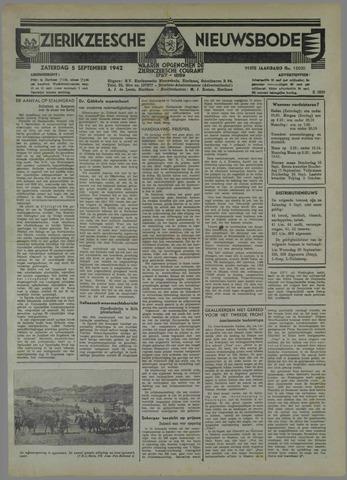 Zierikzeesche Nieuwsbode 1942-09-05