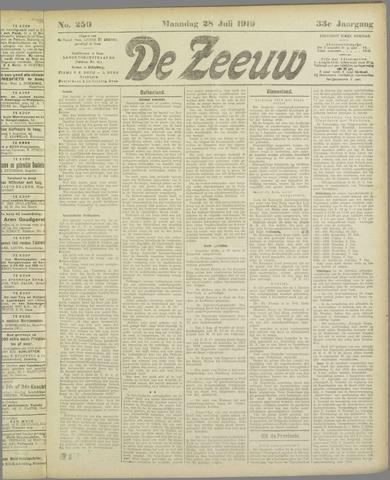 De Zeeuw. Christelijk-historisch nieuwsblad voor Zeeland 1919-07-28