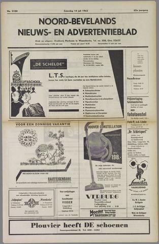 Noord-Bevelands Nieuws- en advertentieblad 1962-07-14