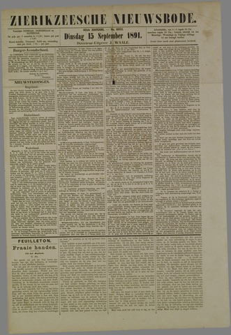 Zierikzeesche Nieuwsbode 1891-09-15