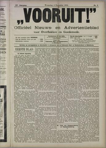 """""""Vooruit!""""Officieel Nieuws- en Advertentieblad voor Overflakkee en Goedereede 1912-12-04"""