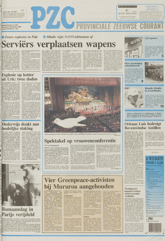 Provinciale Zeeuwse Courant 1995-09-05