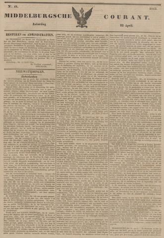 Middelburgsche Courant 1843-04-22