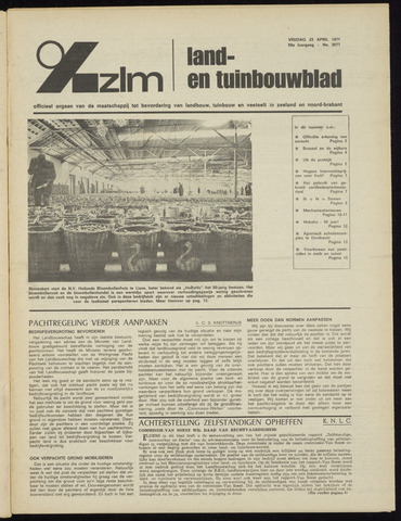 Zeeuwsch landbouwblad ... ZLM land- en tuinbouwblad 1971-04-23