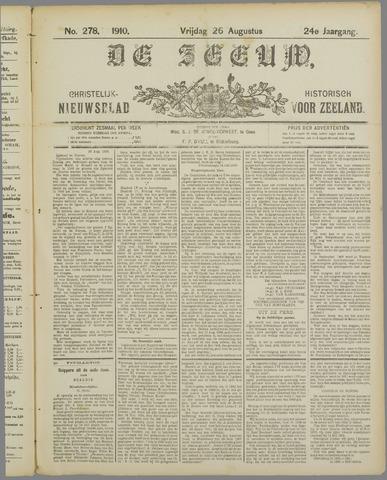 De Zeeuw. Christelijk-historisch nieuwsblad voor Zeeland 1910-08-26