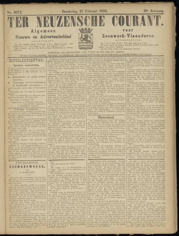 Ter Neuzensche Courant. Algemeen Nieuws- en Advertentieblad voor Zeeuwsch-Vlaanderen / Neuzensche Courant ... (idem) / (Algemeen) nieuws en advertentieblad voor Zeeuwsch-Vlaanderen 1896-02-27