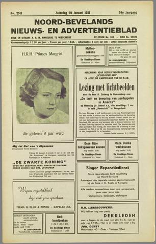 Noord-Bevelands Nieuws- en advertentieblad 1951-01-20