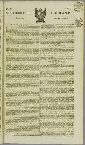 Middelburgsche Courant 1825-02-24
