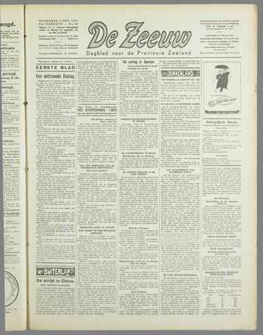 De Zeeuw. Christelijk-historisch nieuwsblad voor Zeeland 1937-11-03