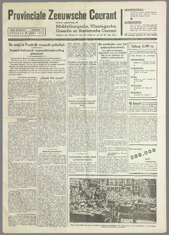 Provinciale Zeeuwse Courant 1940-06-25