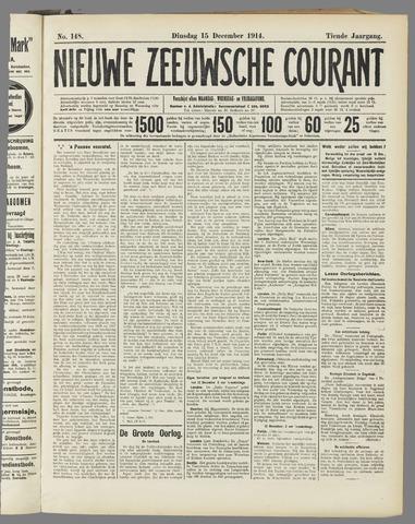 Nieuwe Zeeuwsche Courant 1914-12-15