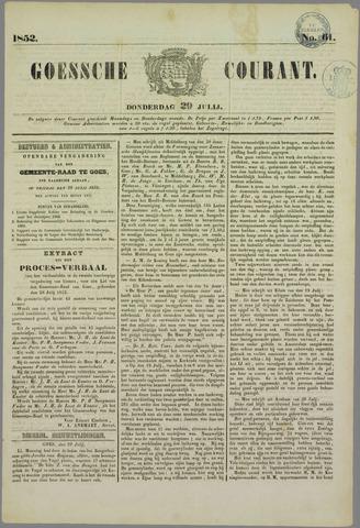 Goessche Courant 1852-07-29