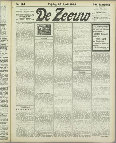 De Zeeuw. Christelijk-historisch nieuwsblad voor Zeeland 1924-04-25