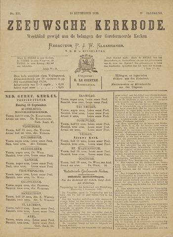 Zeeuwsche kerkbode, weekblad gewijd aan de belangen der gereformeerde kerken/ Zeeuwsch kerkblad 1889-09-14